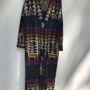 EUC! French Rags Hand Loomed Duster Jacket